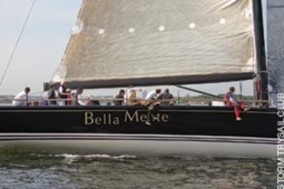 The 60-footer Bella Mente won this year's Block Island Race.