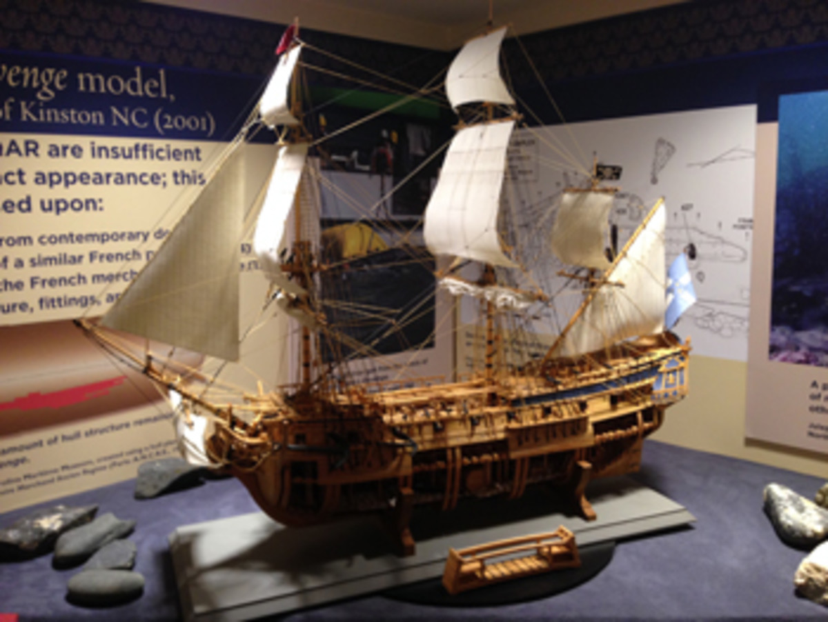"A Blackbeard exhibit is the centerpiece of the North Carolina Maritime Museum and the state's ""heritage tourism"" industry."