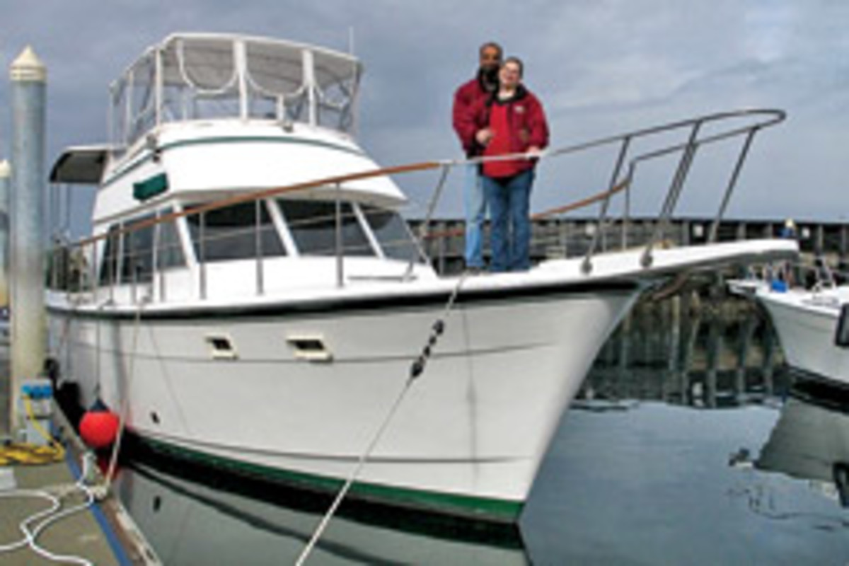 The Millers love the liveaboard lifestyle, but a new baby and a job layoff have forced their hand, and they are now taking trade offers on their Atlantic 44.