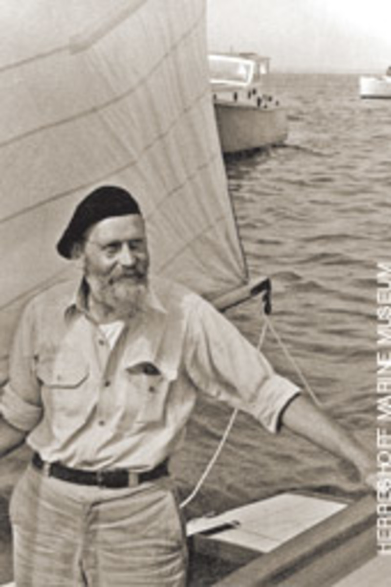 L. Francis Herreshoff in Marblehead in the 1930s.