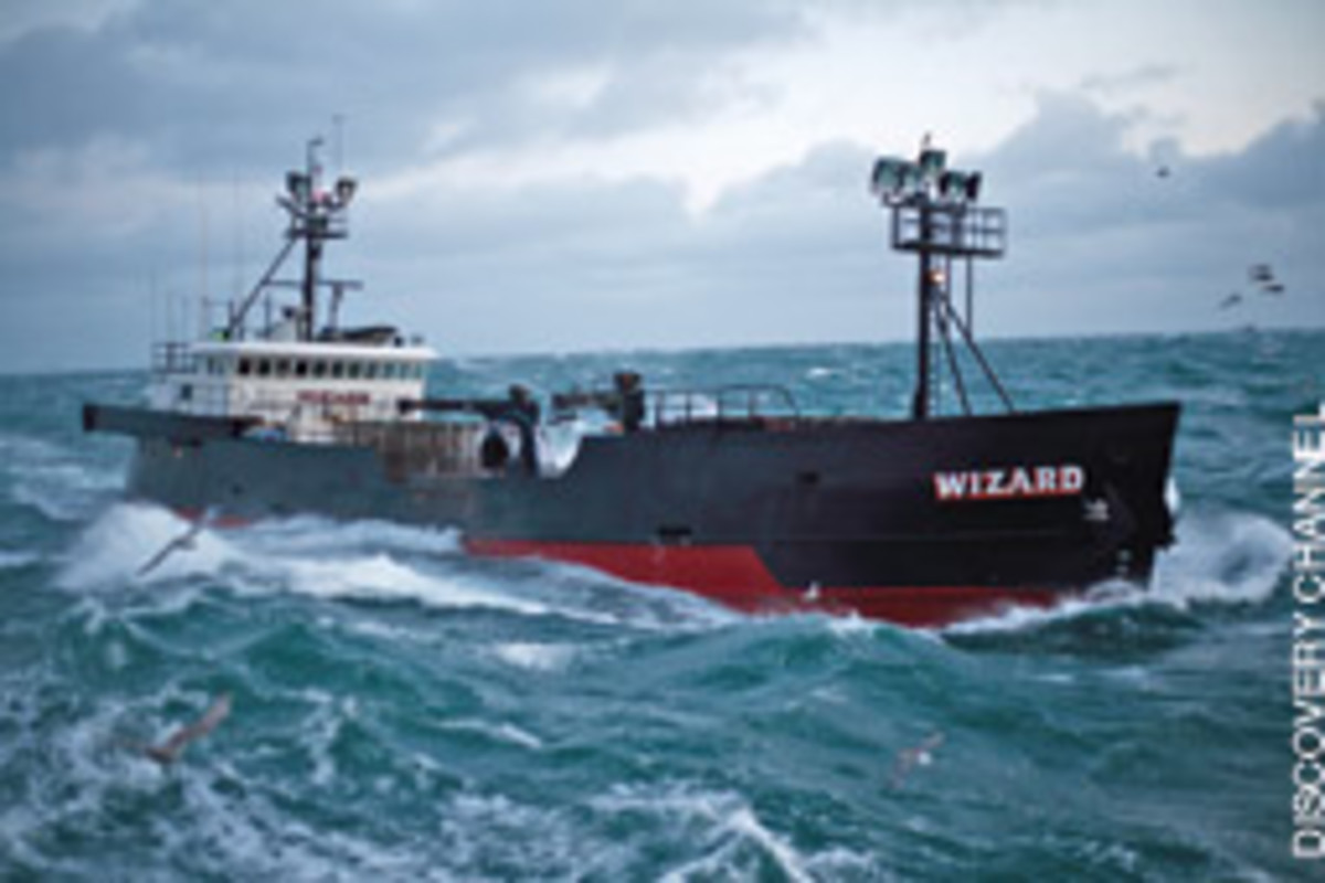 Wizard is a 155-foot World War II-era Navy ship that was converted to a fishing vessel in 1978.