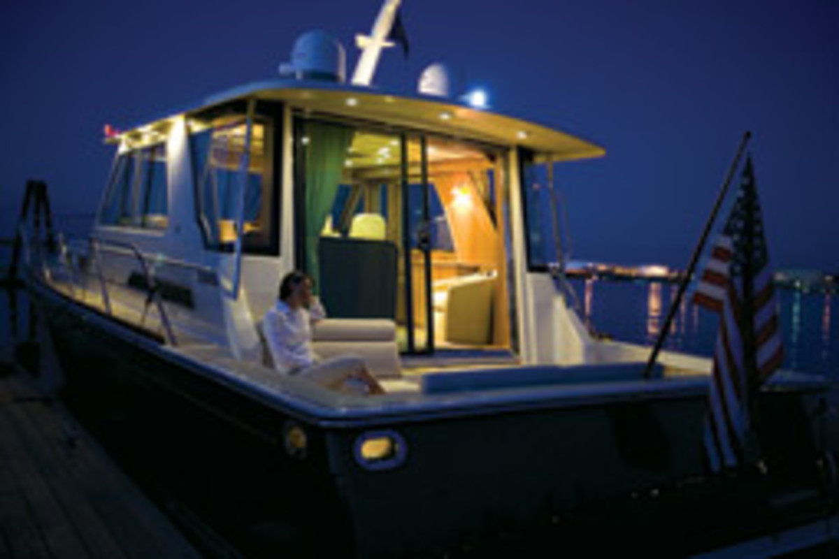 Evening aboard the Sabre 54 Express