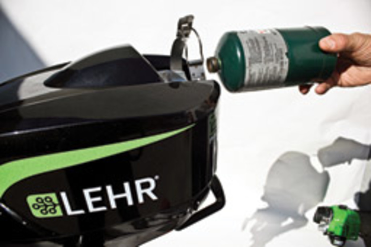 California-based Lehr has introduced 2.5- and 5-hp outboards powered by propane.