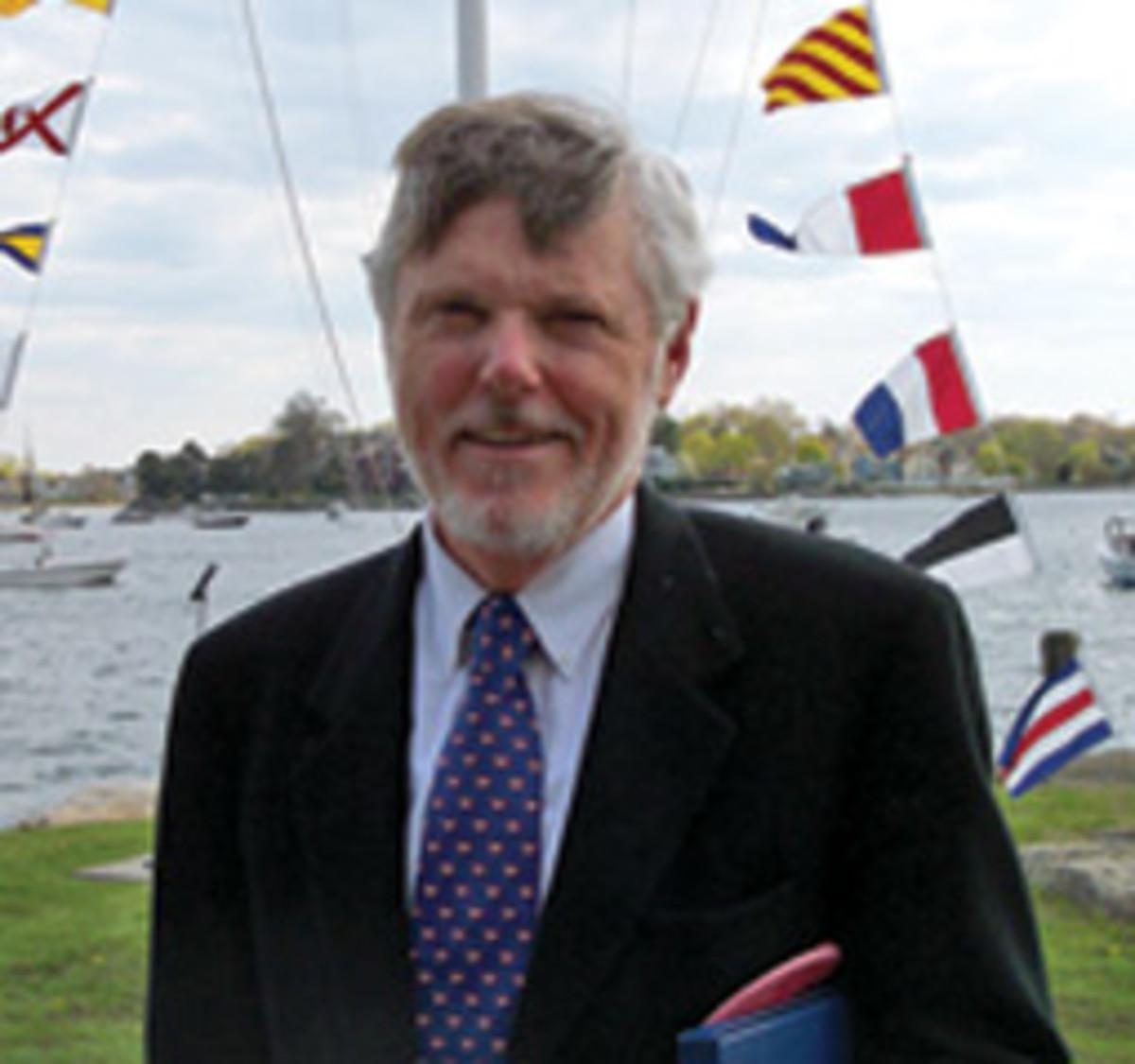 John Love cruises on his Grand Banks, Maramor.