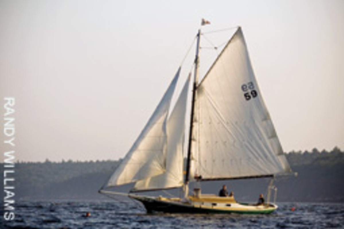 The Sarah Mead is being refitted as an all-electric boat with a $5,000 grant from the Maine Department of Environmental Protection.