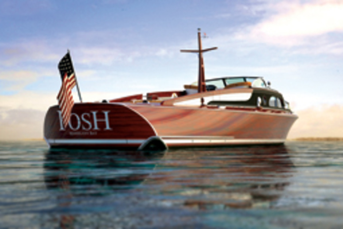 With Posh, Prince reimagines a 1930s art-deco commuter yacht.