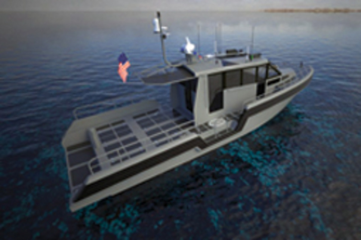Prince is designing Metal Shark's flagship 45 Defiant pilothouse, one of several current projects.