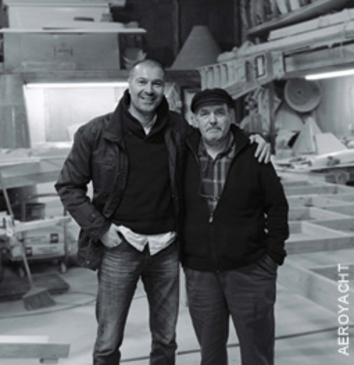 Partners in the boatbuilding venture are Gregor Tarjan (left) and Marc Anassis.