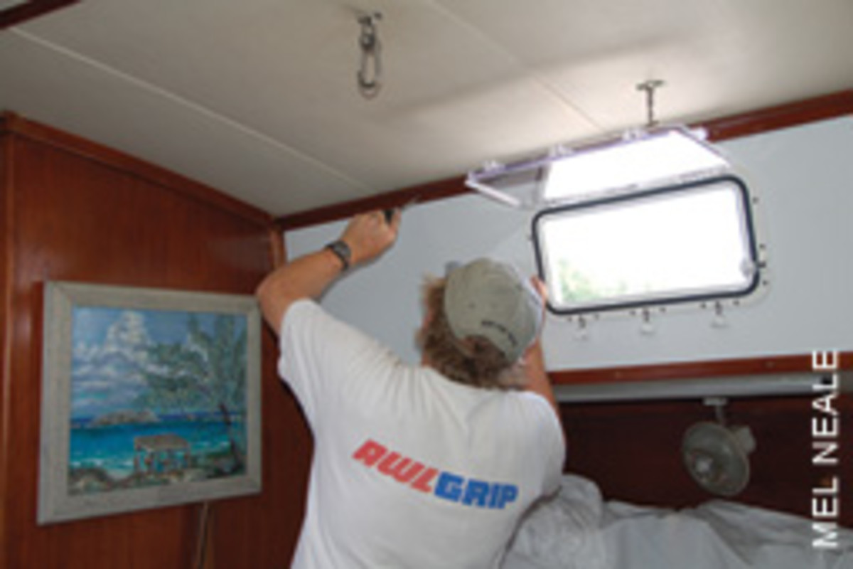 Porthole replacement nearly completed