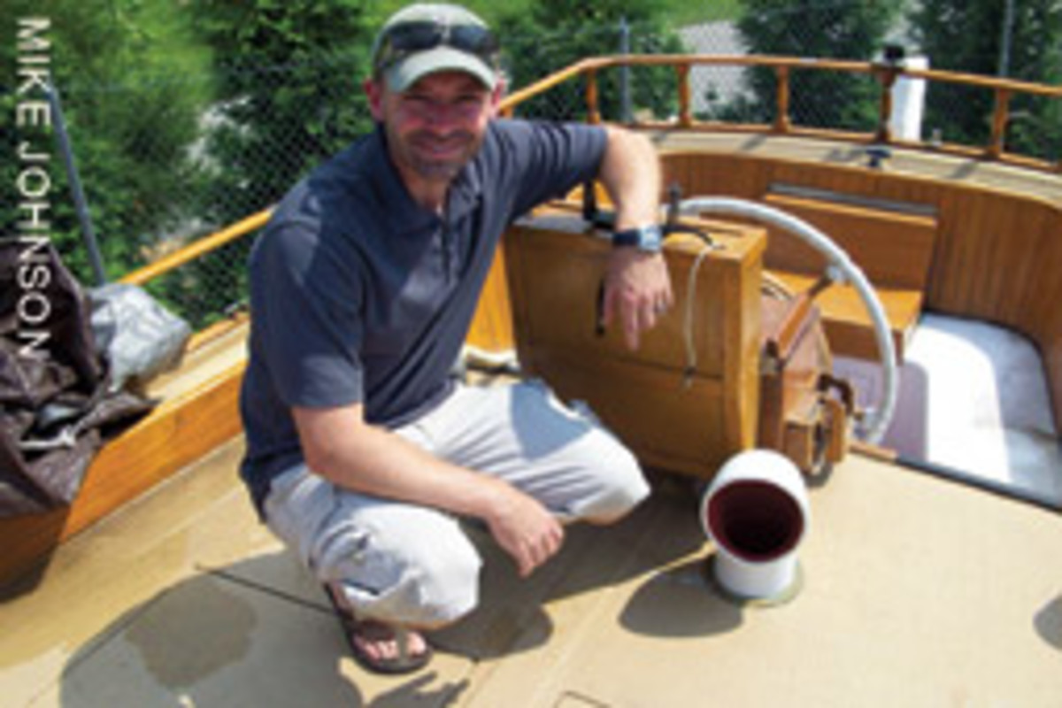 Matt Sasser's Kenner Skipjack 35 should be right at home on the Chesapeake after the restoration is completed.