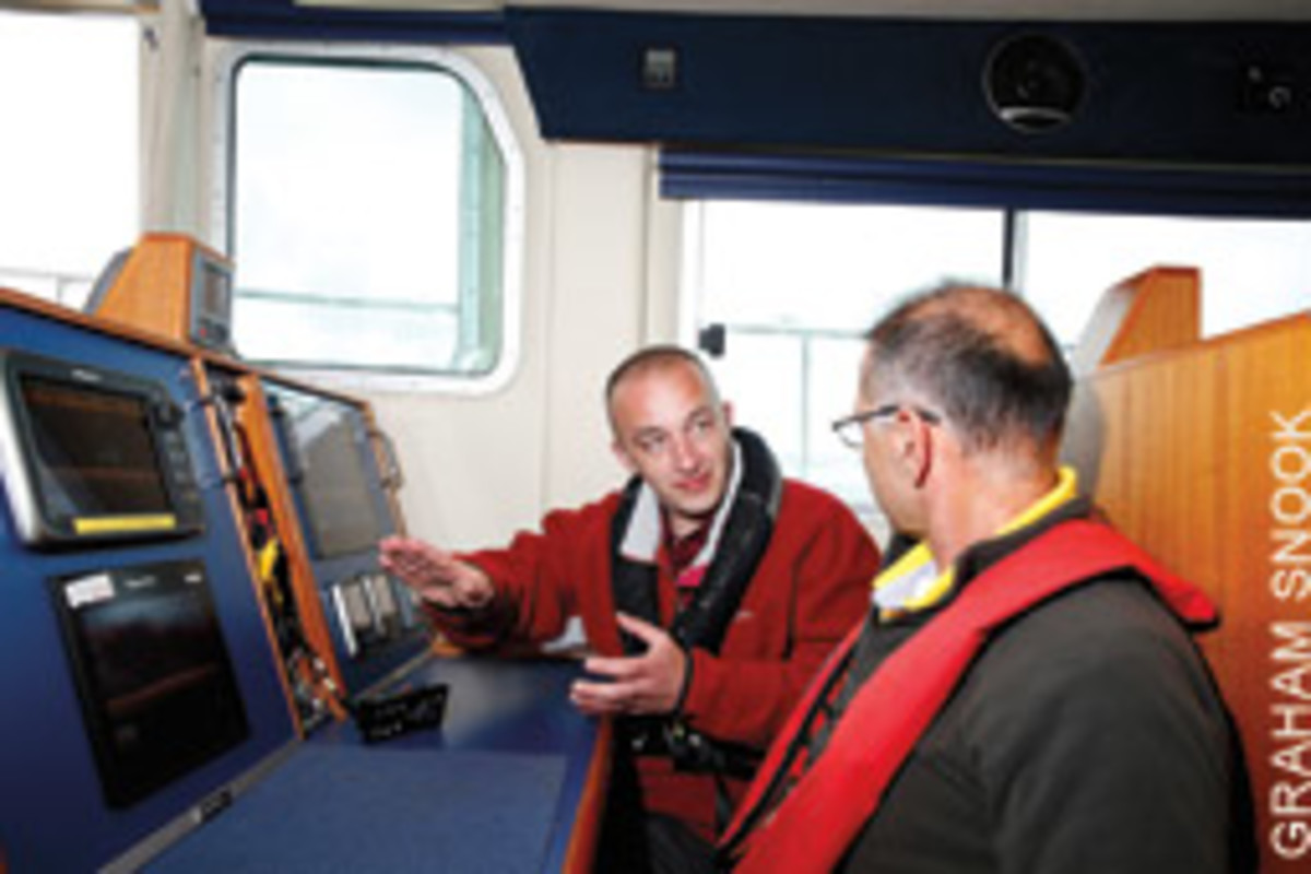 There are six testing stations in Raymariner's pilothouse.