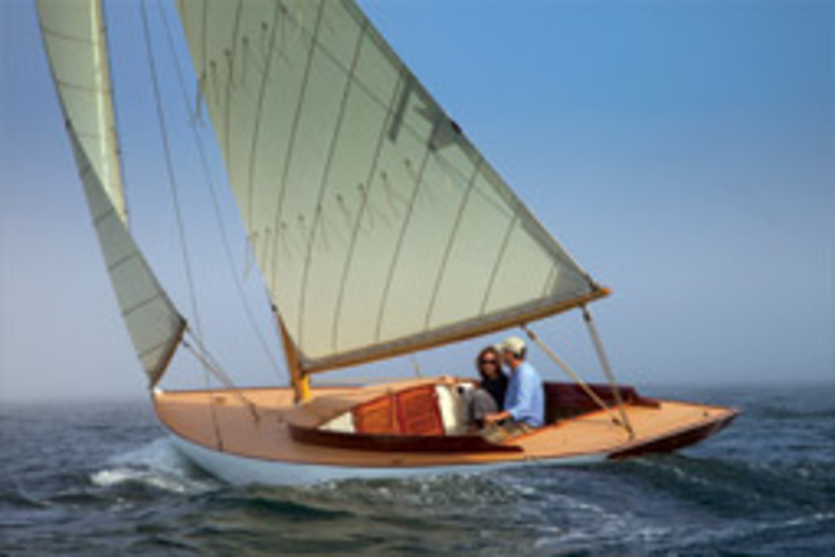 The Artisan A-30 is based on this Buzzards Bay 18 designed by Nat Herreshoff.