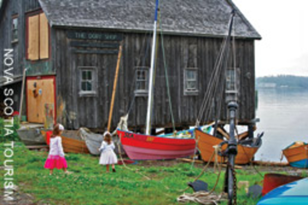 The Dory Shop on Lunenburg's waterfront
