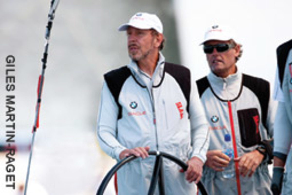 Larry Ellison (left) and Russell Coutts have worked together since they won the America's Cup in 2010.
