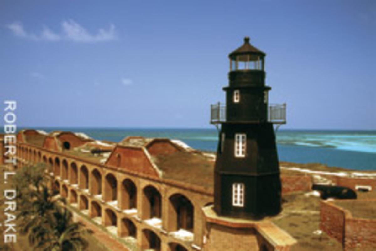 The massive fort has 8-foot-thick masonry walls.