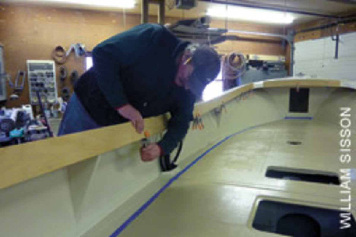 Charlie Koller is in the midst of a rehab of a Sisu 22 that was previously a workboat.