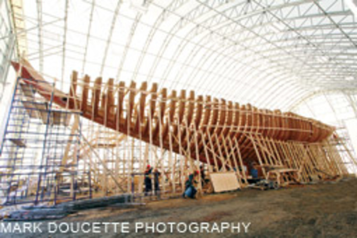 The new Bluenose was built at the Lunenburg Industrial Foundry in Nova Scotia.