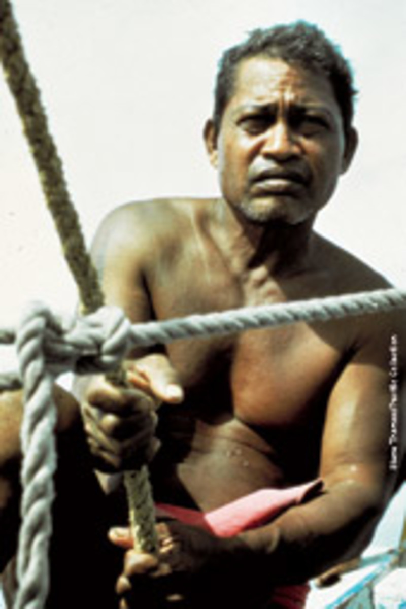 Piailug sailed 2,500 miles from Hawaii to Tahiti in 1976 without instruments or charts.