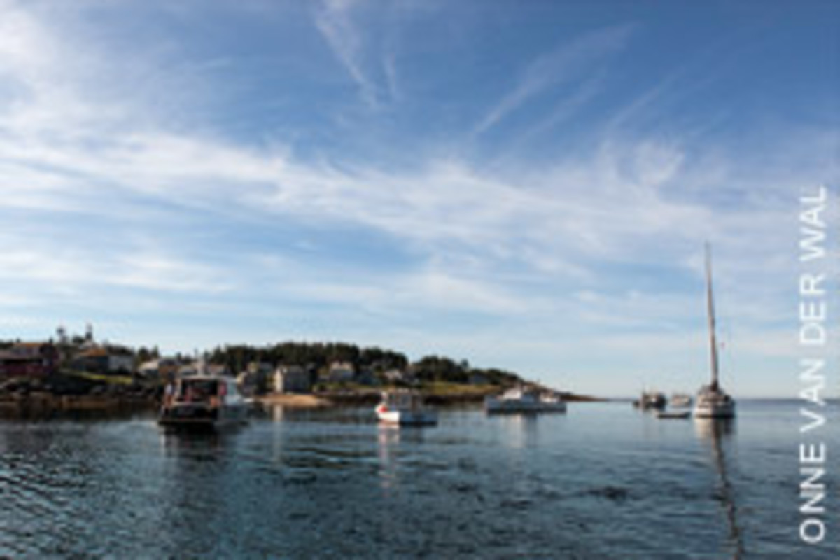 The harbor off this island fishing community is only partially protected.