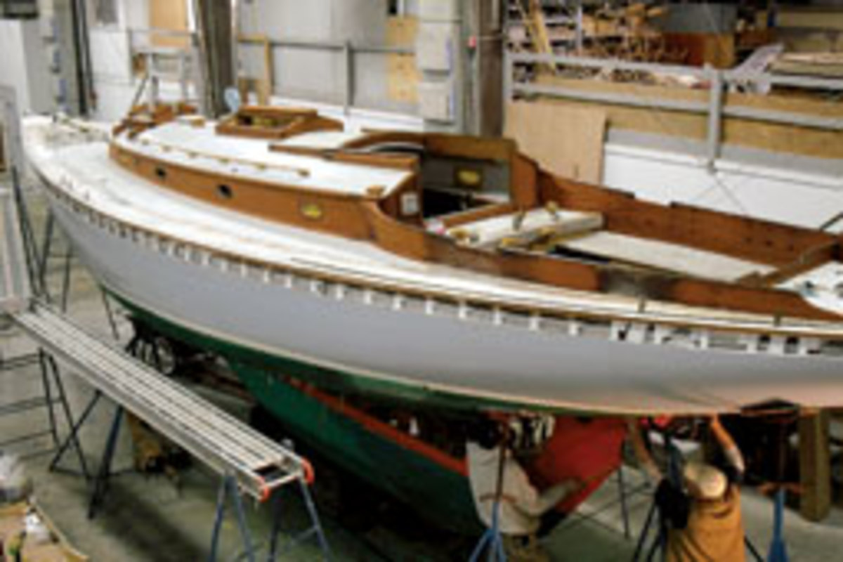 Javelin's makeover takes shape in a Massachusetts boat shop.