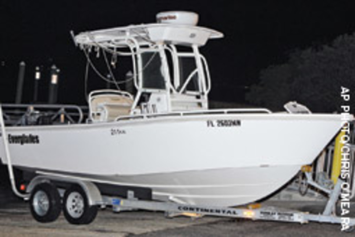 Marquis Cooper's recovered boat was inspected by Florida Fish & Wildlife Conservation Commission officers.