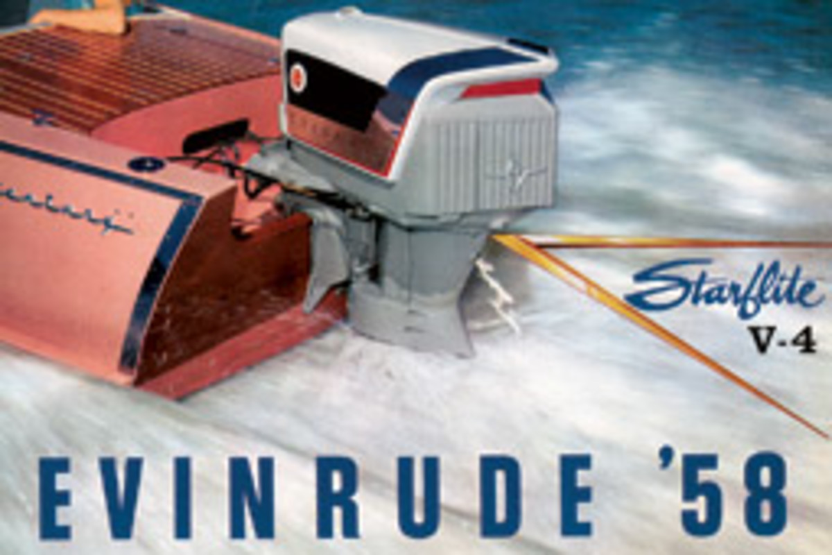 You can almost smell the 2-stroke exhaust in these outboard advertisements.