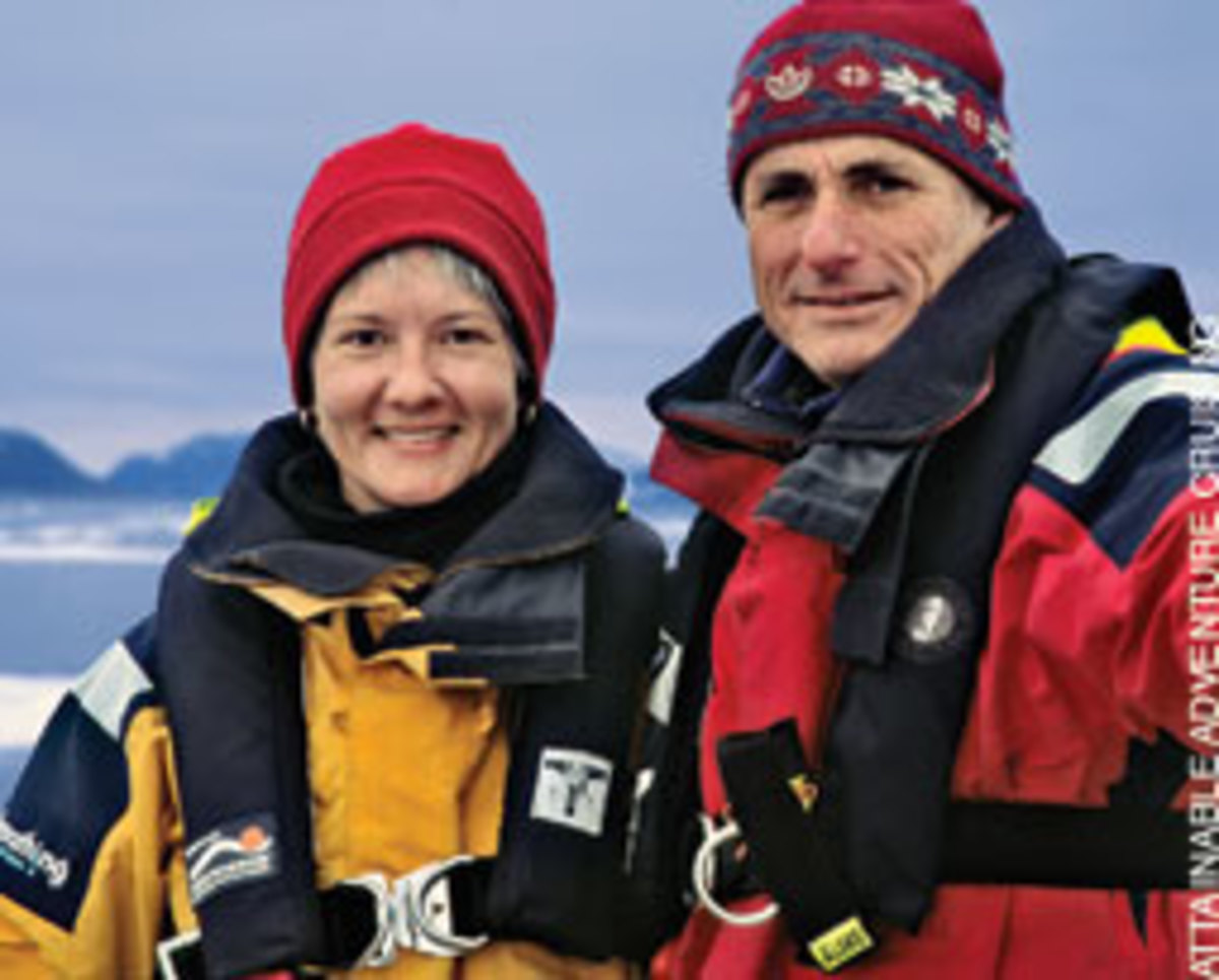 Phyllis Nickel and John Harries prefer to be called voyagers rather than cruisers.