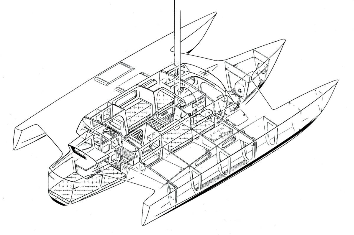 Jim Brown's design for his Brown 31 trimaran