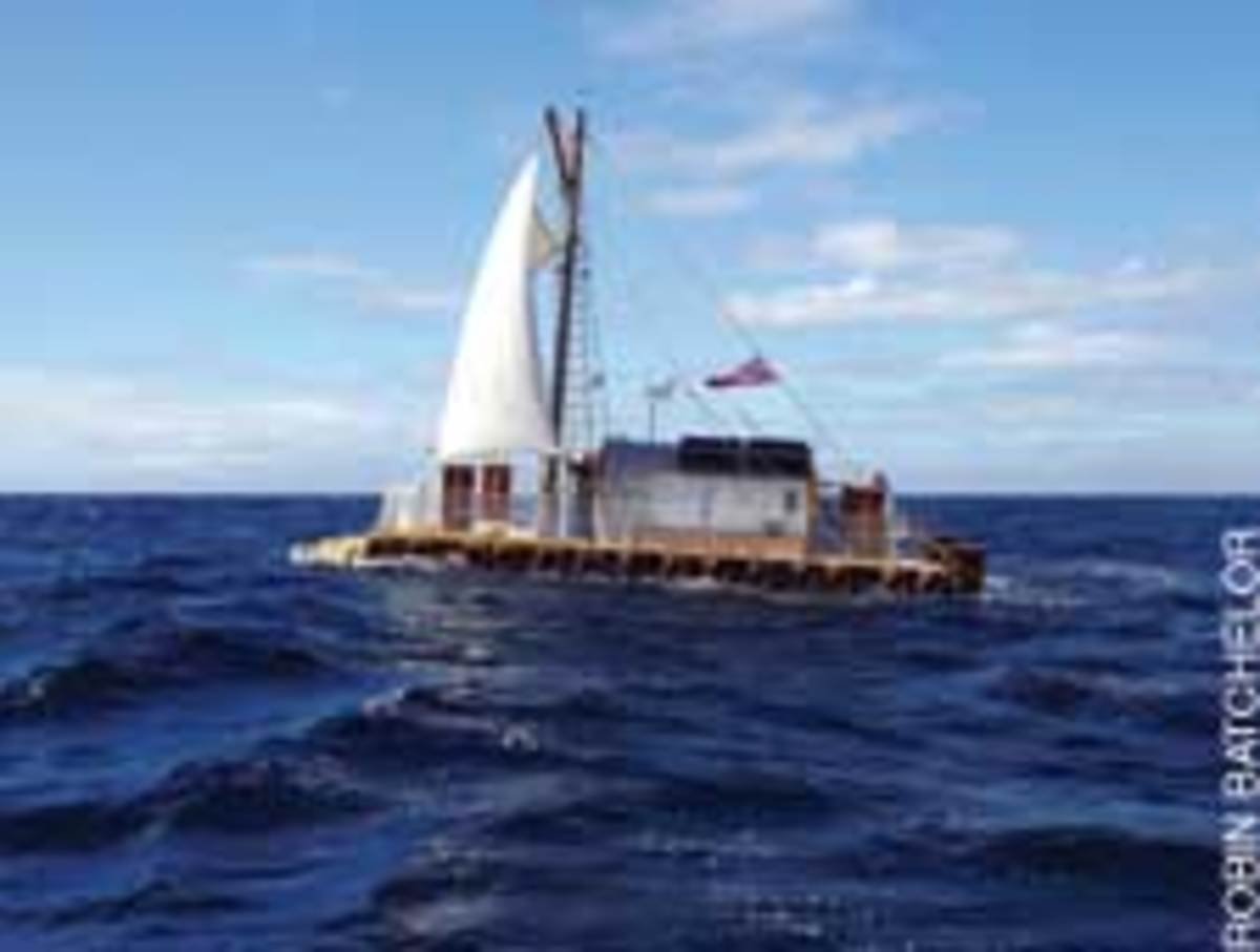 The rafters sailed 3,000 miles from the Canary Islands to St. Martin in 66 days.