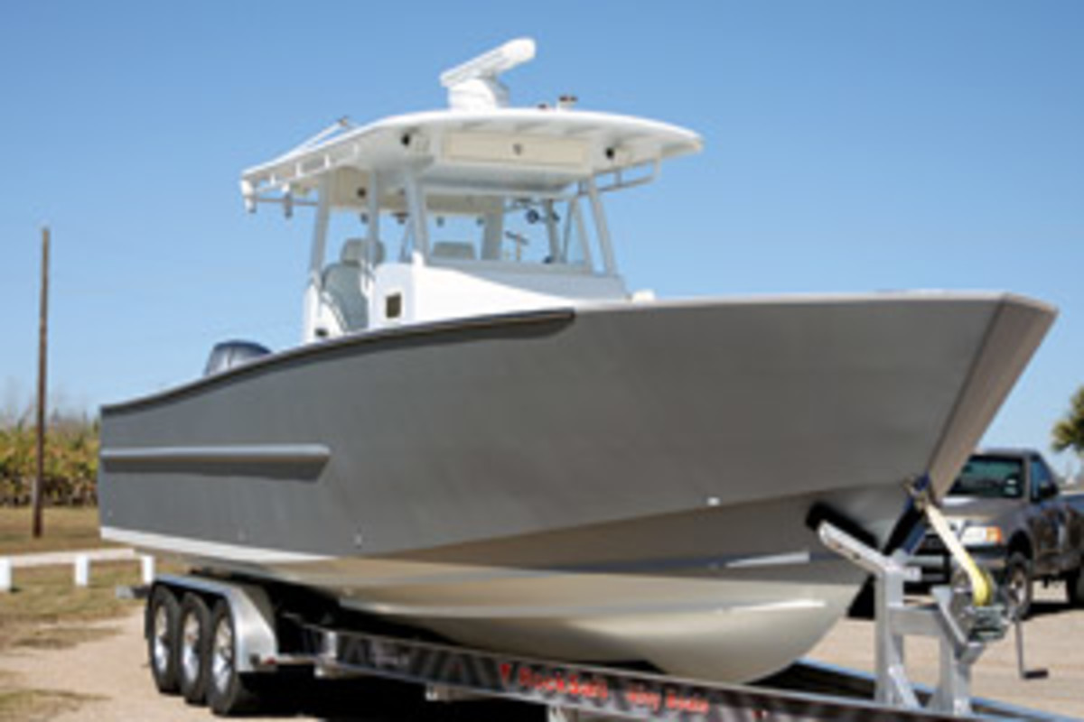 Rock Salt Alloy Boats says its welded-aluminum 34-foot center console has