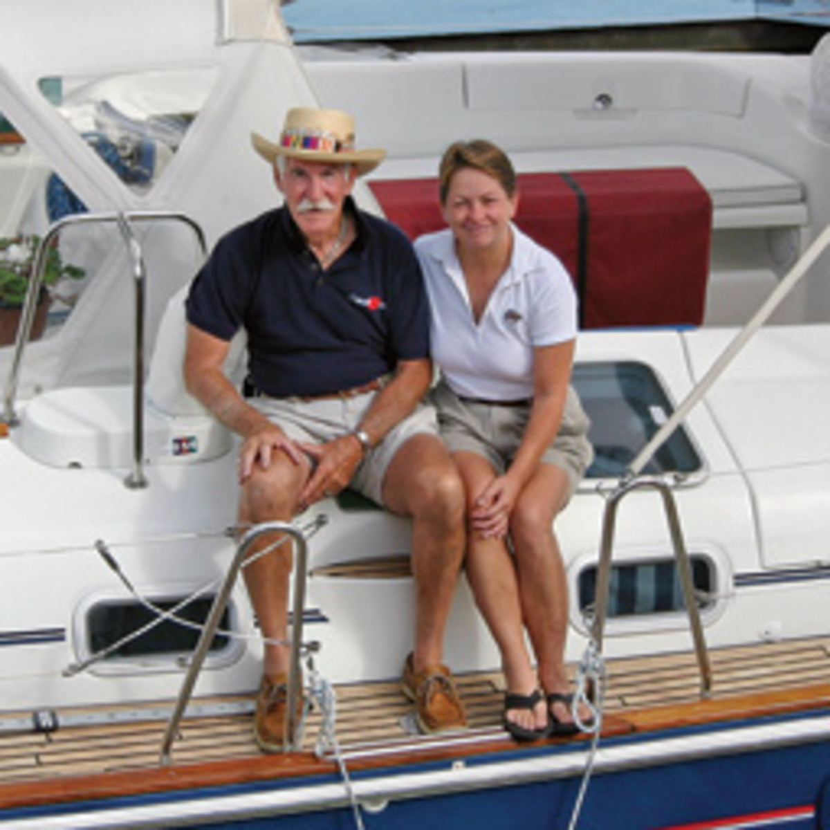 Capt. Harry and Grace, a team on and off the water, are awaiting their next adventure.