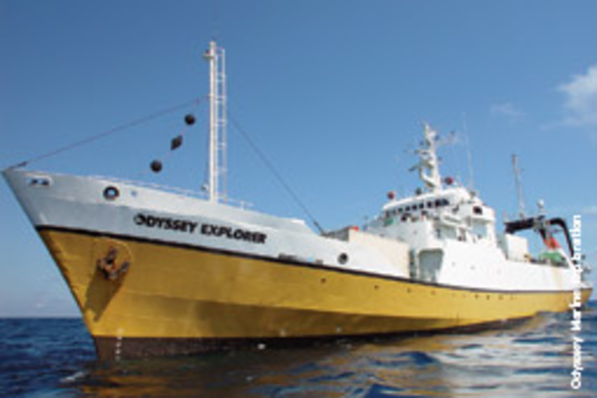 Odyssey Explorer is a 251-foot Class II dynamically positioned ship and state-of-the-art deep-ocean archaeological platform.