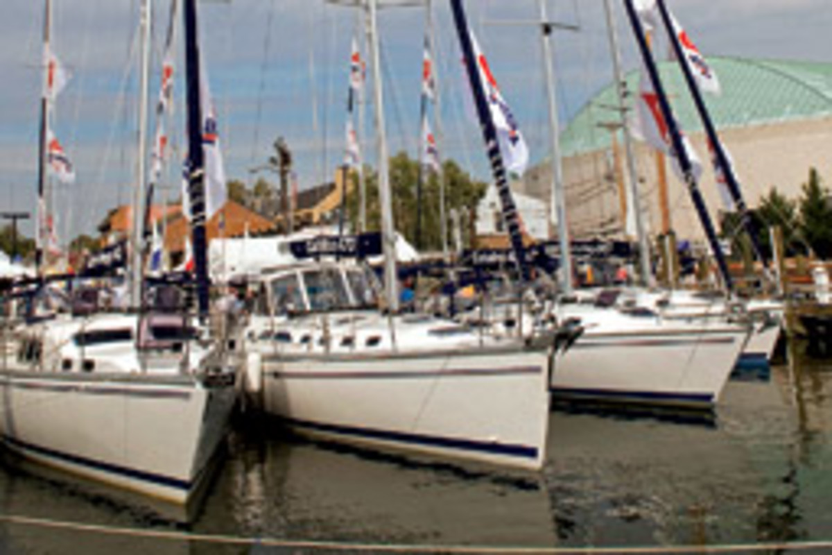 Billed as the oldest and largest in-water boat shows in the world, the United States Sailboat and Powerboat Shows draw about 50,000 people, according to organizers.