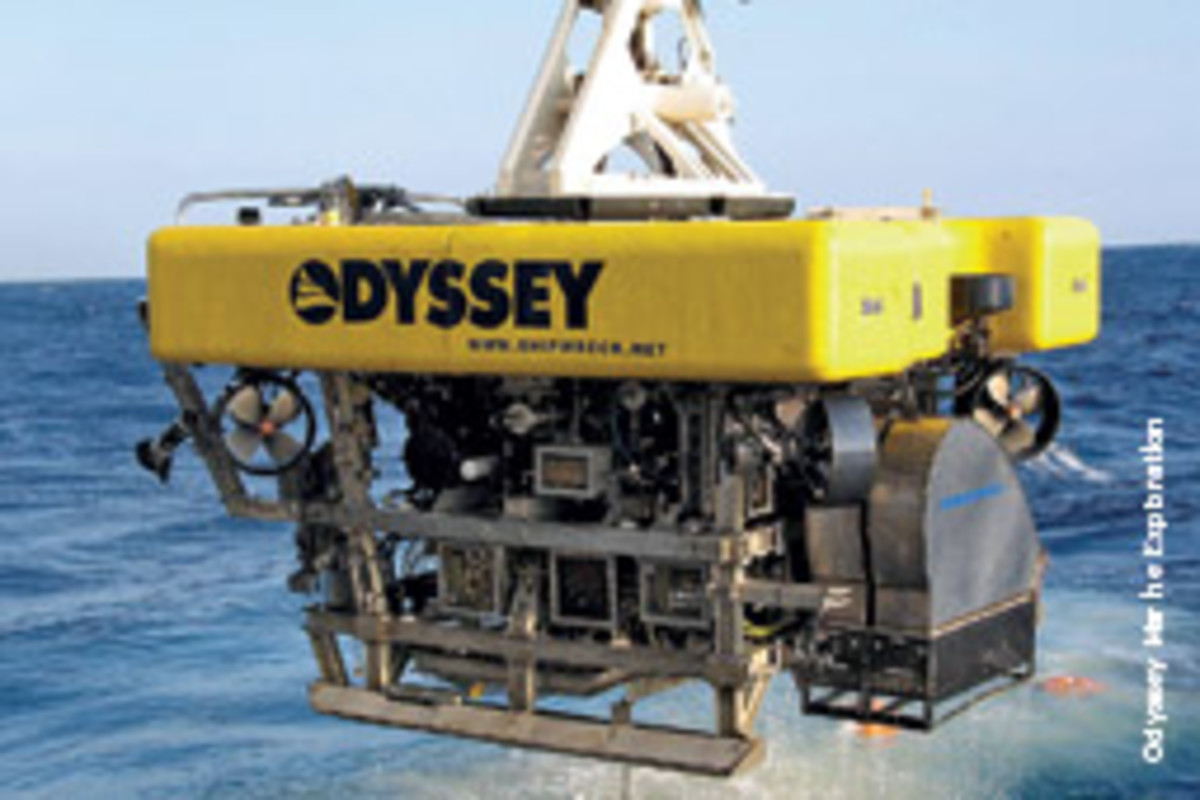 The centerpiece of Odyssey's system are Zeus I and Zeus II, 8-ton remotely operated vehicles.