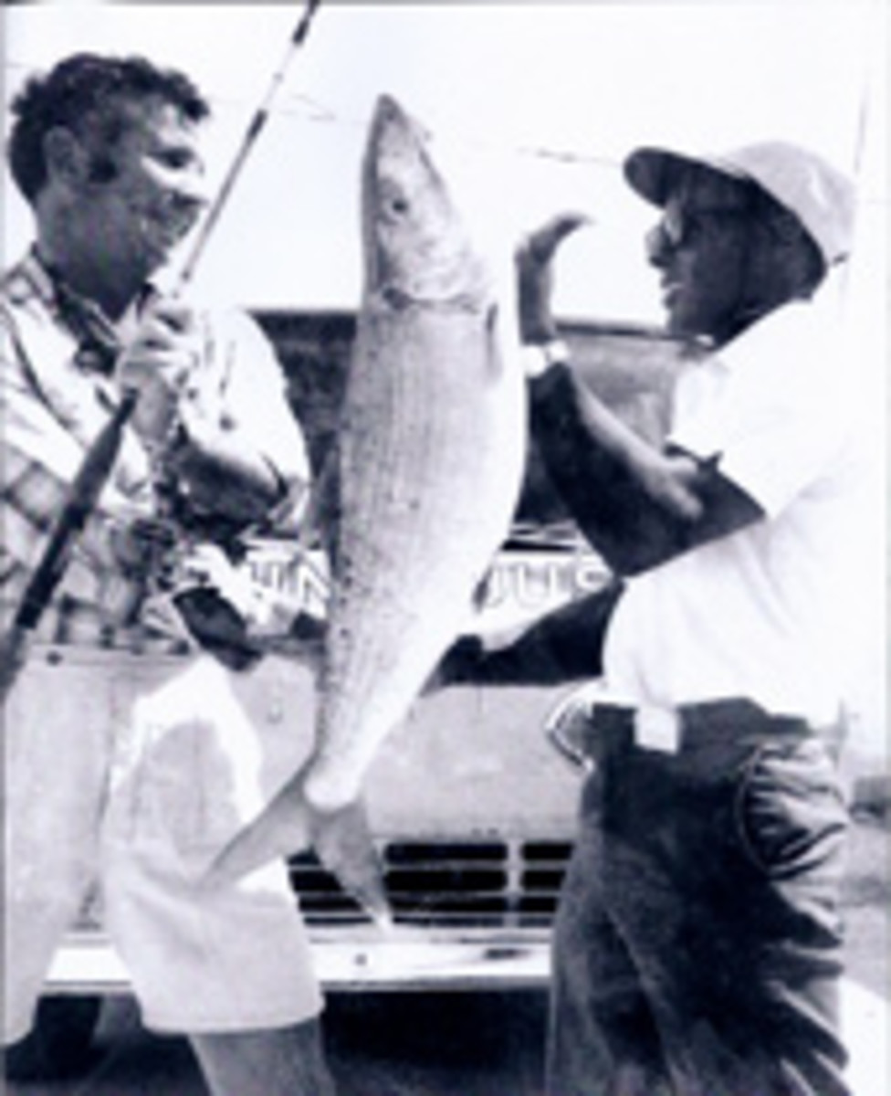 Bimini boatbuilder and fishing guide Ansil Saunders spotten the 16-pound, 3-ounce bonefish that Jerry Lavenstein boated 40 years ago. 'It was the best cast of his life,' Saunders says.