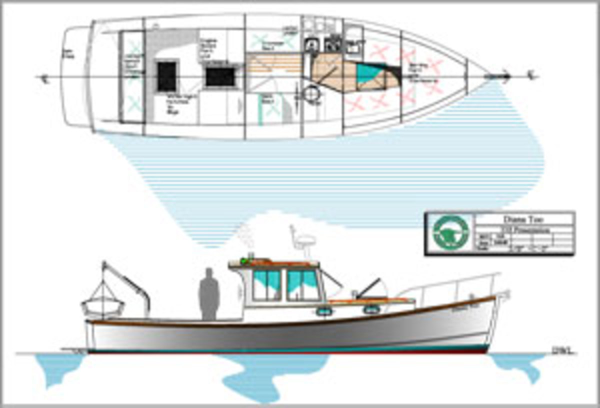 Sam Devlin designed this 33-foot lobster boat without an inverter, 110-volt shore power or electric hot water heater