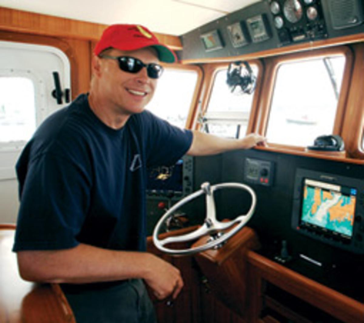 Barry Kallander enjoys cruising the Maine coastline.
