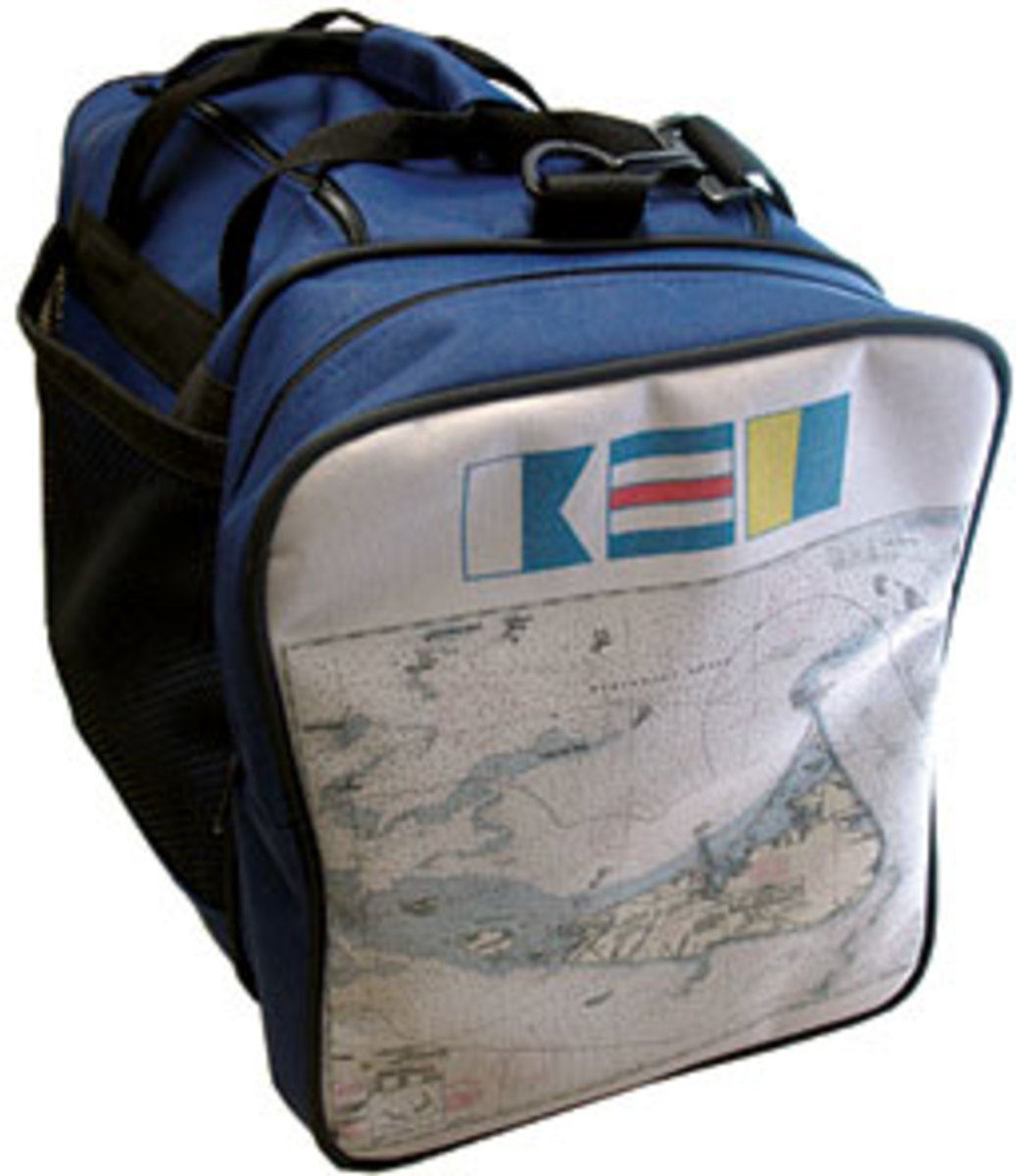 An example of one of the customized bags from Not for Navigation.