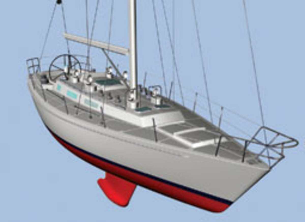 A 3-D rendering of the Maine-built Leadership 44 design