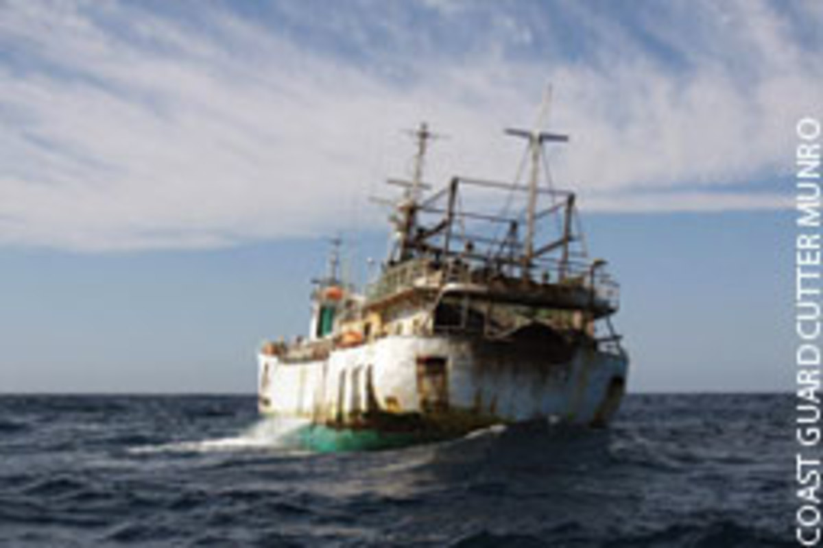 The rats aboard the infested Bangun Perkasa, which was boarded for illegal fishing, had to be eradicated before the Coast Guard could bring the ship into Alaska coastal waters.