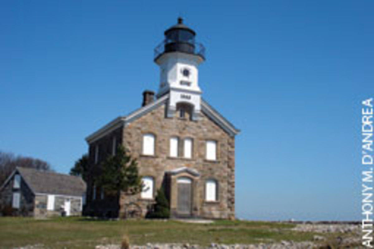 Sheffield Island Lighthouse was activated in 1868.