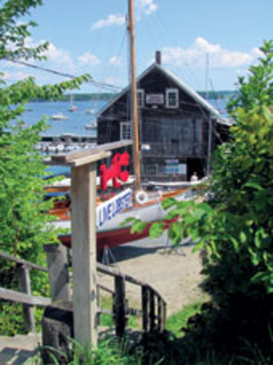 Eaton's Boat Yard in Castine