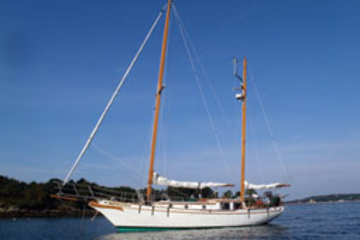 Gallup and his wife restored this 41-foot 1979 Island Trader ketch.