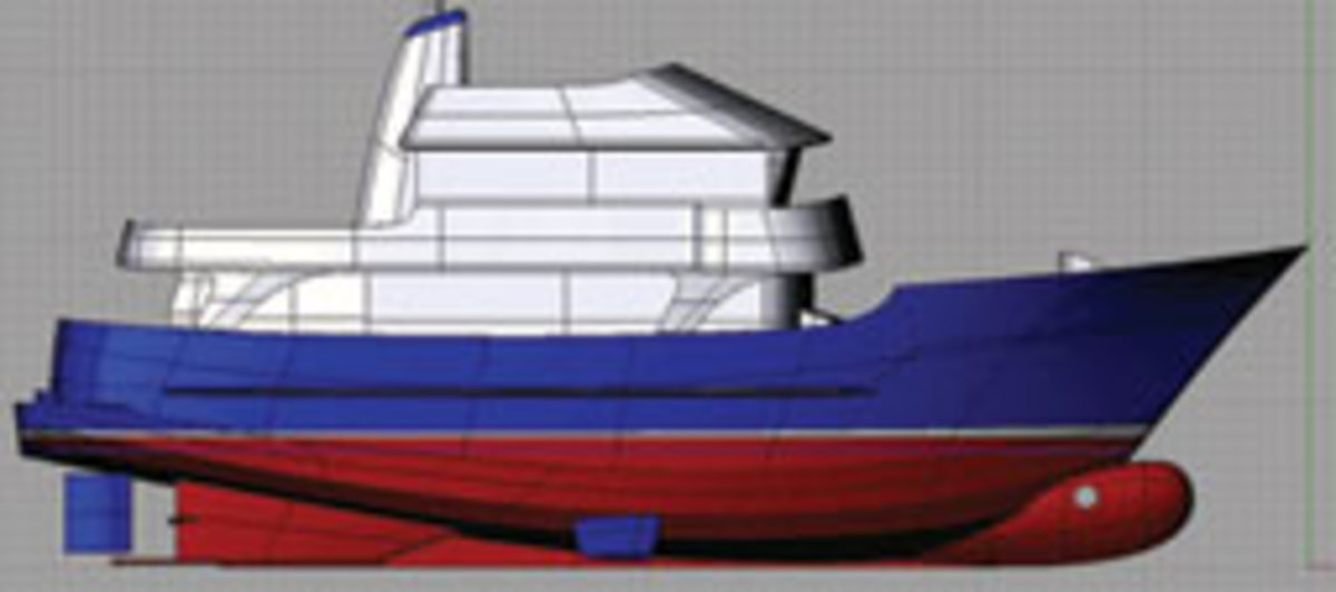 A displacement hull is supported by buoyancy alone.