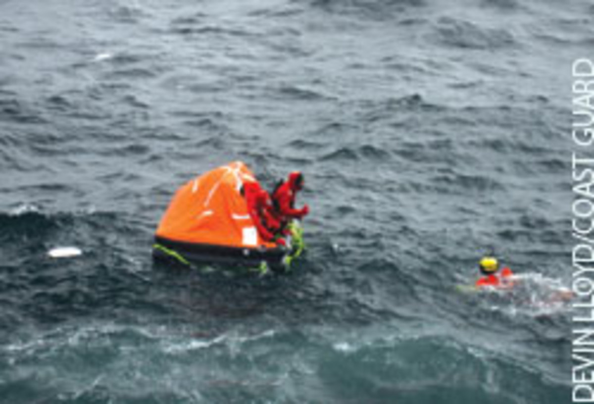 Coast Guard rescue swimmer Ralph Aguero approached the crew of the sunken Nordic Mistress. 'They were on edge but surprisingly calm,' Aguero said later.
