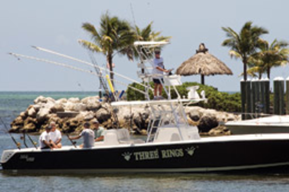 Johnson, who lives in Islamorada, Fla., has been sportfishing for about 10 years. This 39-foot SeaVee center console is one of two fishing boats he owns.