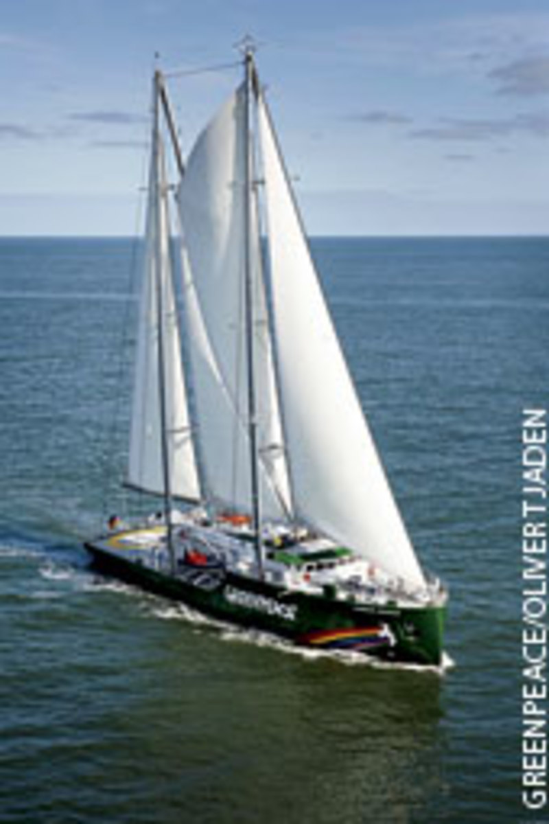 The $30 million Rainbow Warrior III is Greenpeace's first purpose-built vessel.