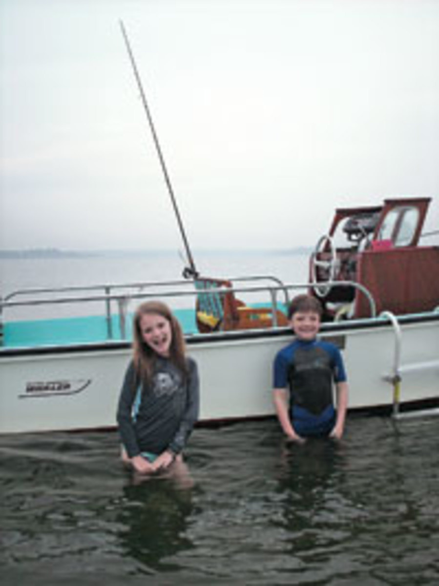 Bill Sisson is passing his love of boats and the water to his children Carly and Michael.
