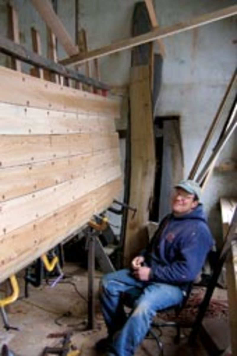 Peter Kass builds plank-on-frame boats in Bristol, Maine, for commercial and recreational use.
