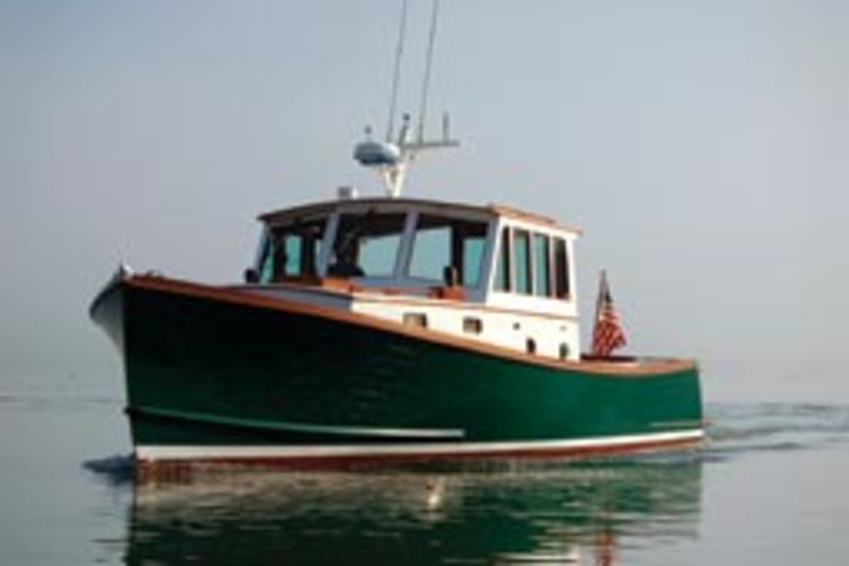 There are few vessels prettier than a well-proportioned Maine lobster boat. Bernadette is true to the workman's lines while adding the comforts of a well-found cruiser.